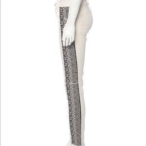 EUC Rag&Bone cream embroidered skinny jeans